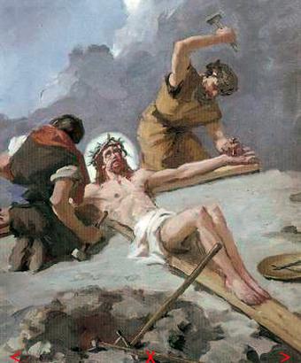 """Képtalálat a következőre: """"jézust a keresztre szegezik"""""""